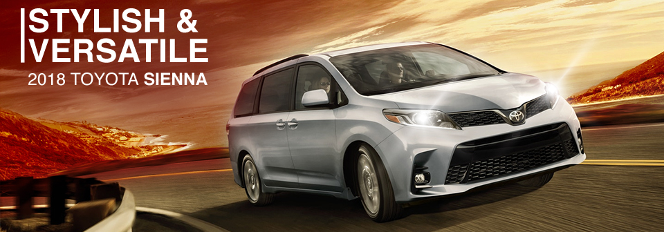 Exterior of the Toyota Sienna at Toyota of Tampa Bay near Brandon
