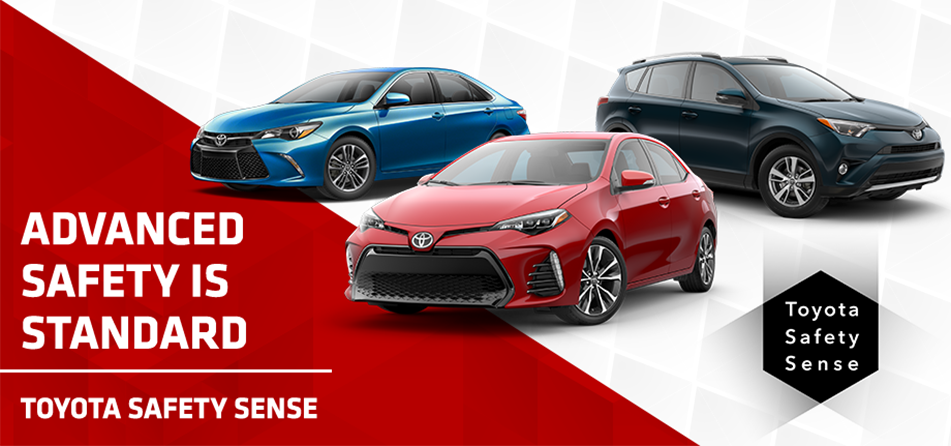 All new Toyotas come with Toyota Safety Sense®, an innovative suite of the latest advancements in safety technology from Toyota. See all the amazing features that come standard and how you can make your drive safer with Toyota.