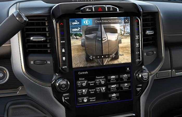 Rear view camera of the 2020 Ram Heavy Duty Trucks
