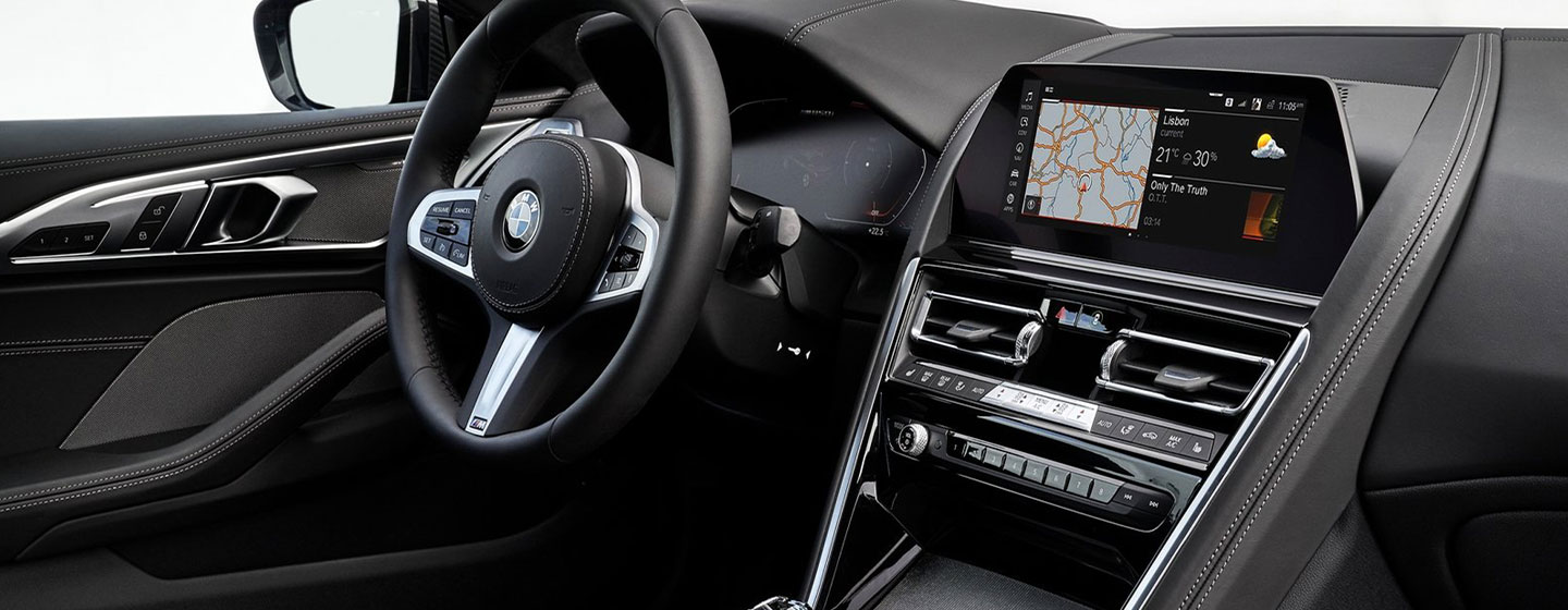 Safety features and interior of the 2019 BMW 8 Series M850i - available at our BMW dealership