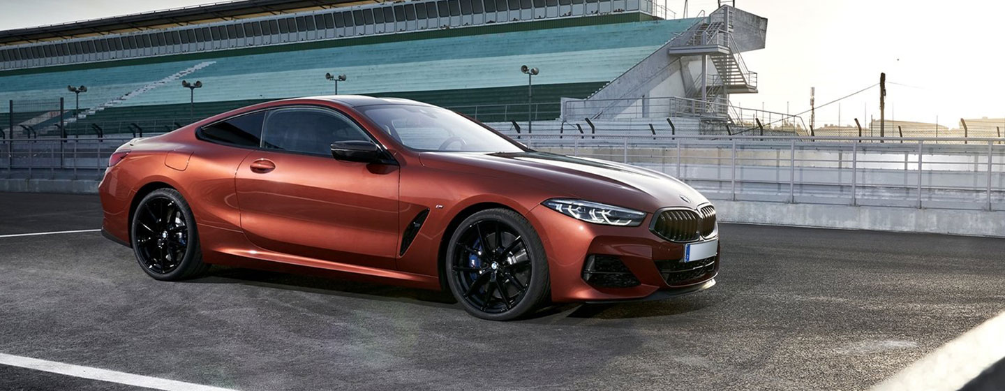 2019 BMW m850i exterior - parked on a race track.