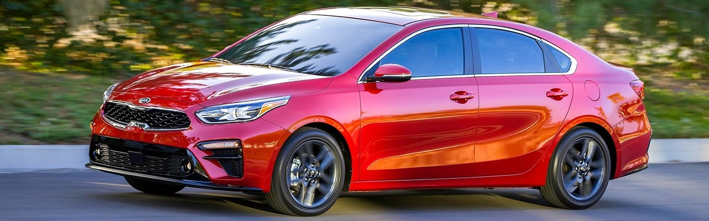 Exterior image of the 2020 Kia Forte for sale at Spitzer Kia Cleveland