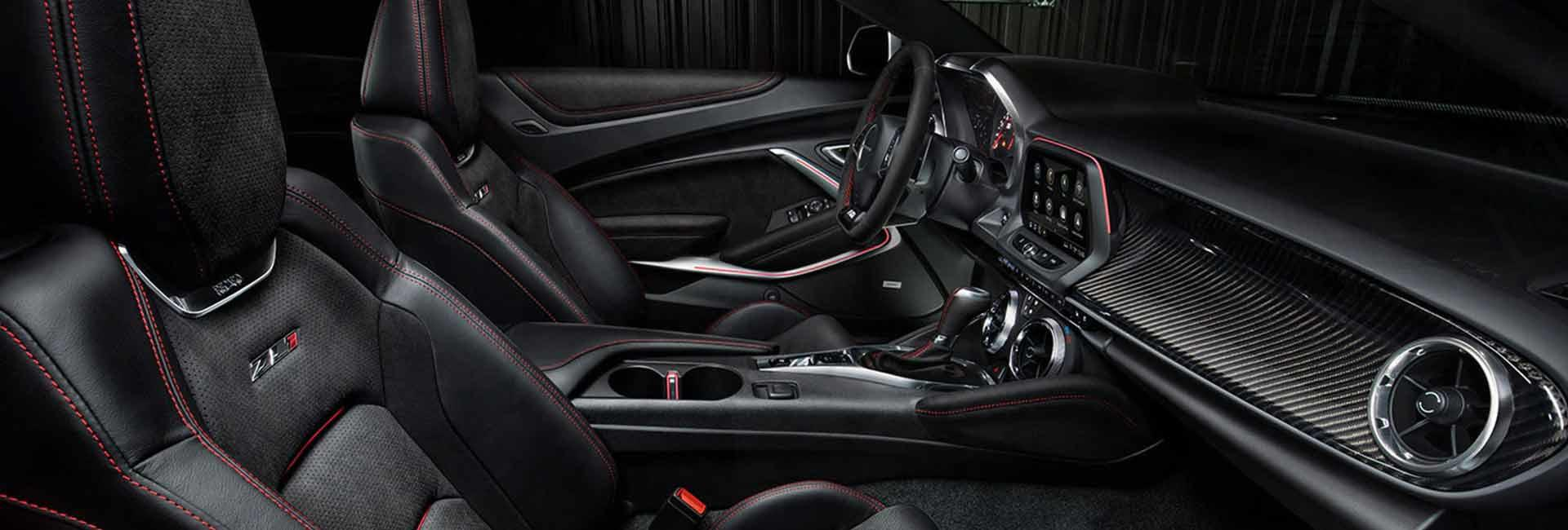 Side view of the interior of a 2021 Chevrolet Camaro