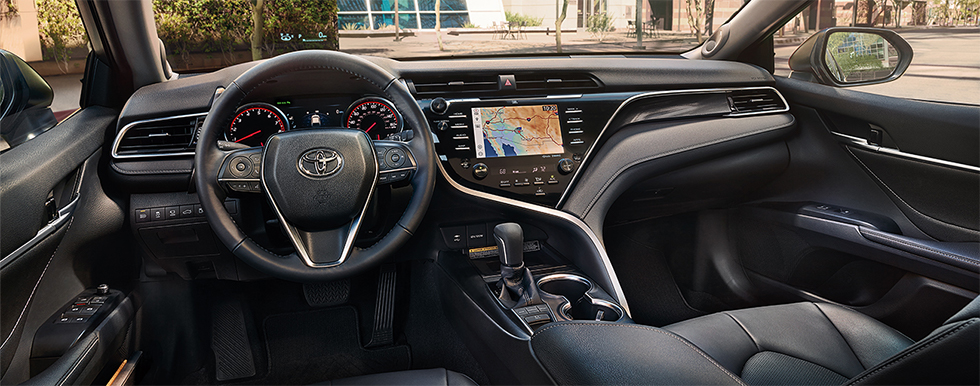 Safety features and interior of the 2018 Toyota Camry - available at our Toyota dealership in Atlanta, GA.