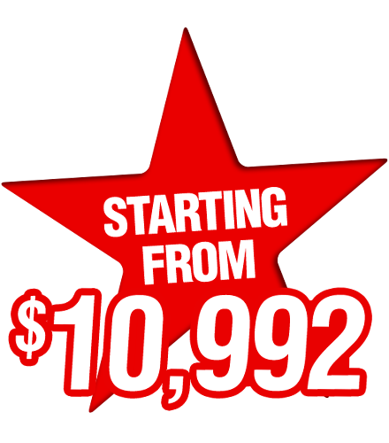 Starting From $10,992