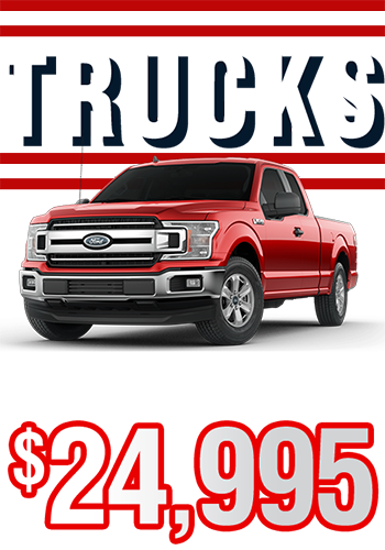 Trucks From Only $24,995