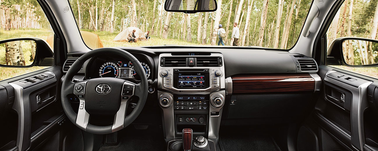 Safety features and interior of the 2018 Toyota Highlander and 4Runner - available at our Toyota dealership near Charlotte