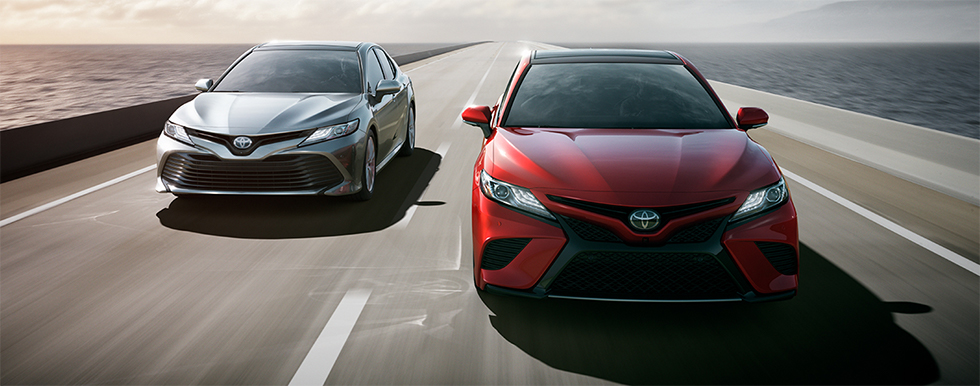 Exterior of the 2018 Toyota Camry - available at our Toyota dealership in Atlanta, GA.