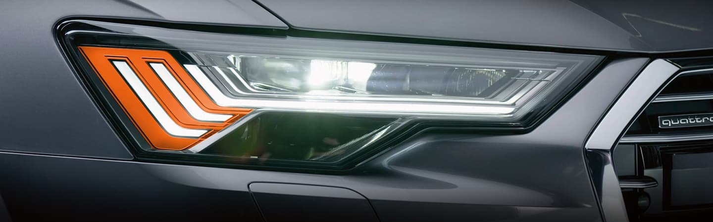 2019 Audi A6 headlight detail