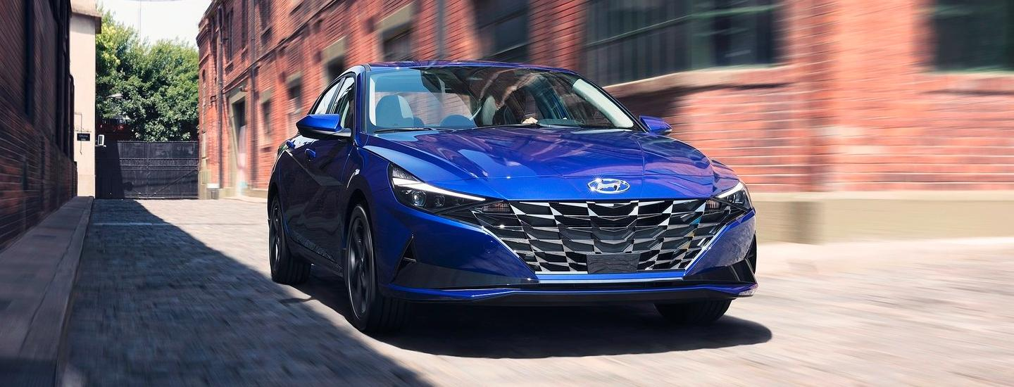 2021 Hyundai Elantra in motion