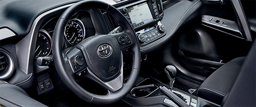 Interior of the 2019 Toyota RAV4 available at Toyota of Rock Hill near Charlotte, NC.
