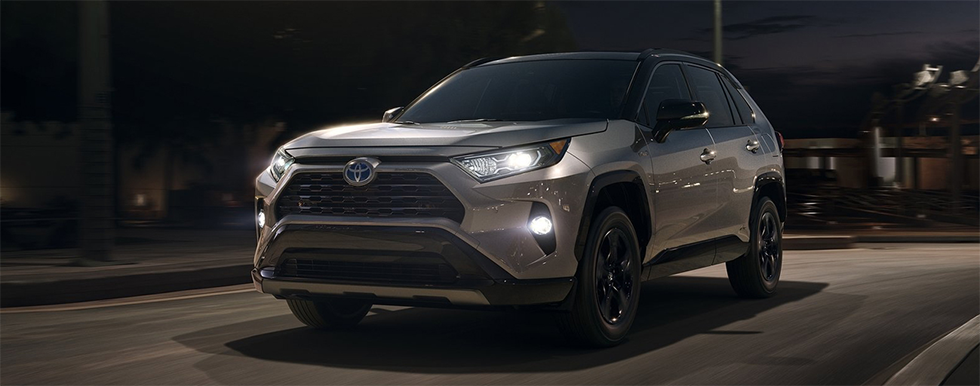 Exterior of the 2019 Toyota RAV4 available at World Toyota in Altanta, GA