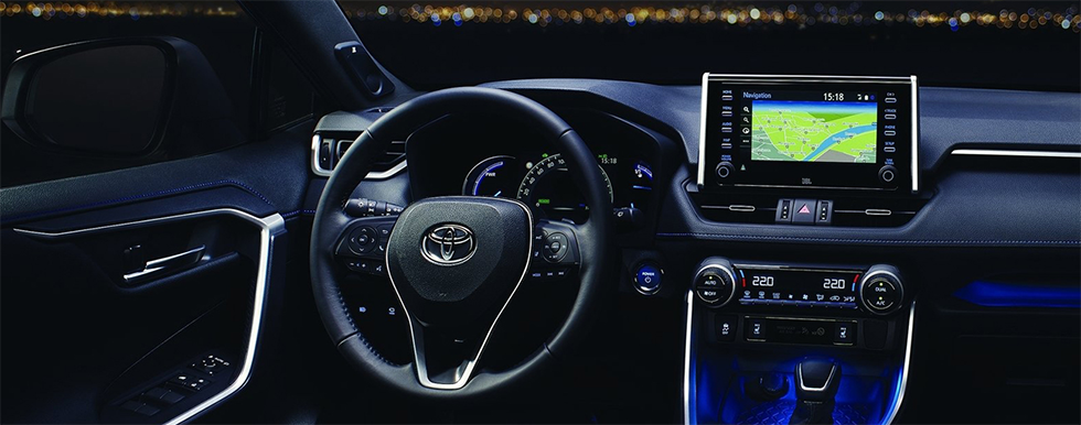 Safety Features and Interior of the 2019 Toyota RAV4 available at World Toyota in Altanta, GA