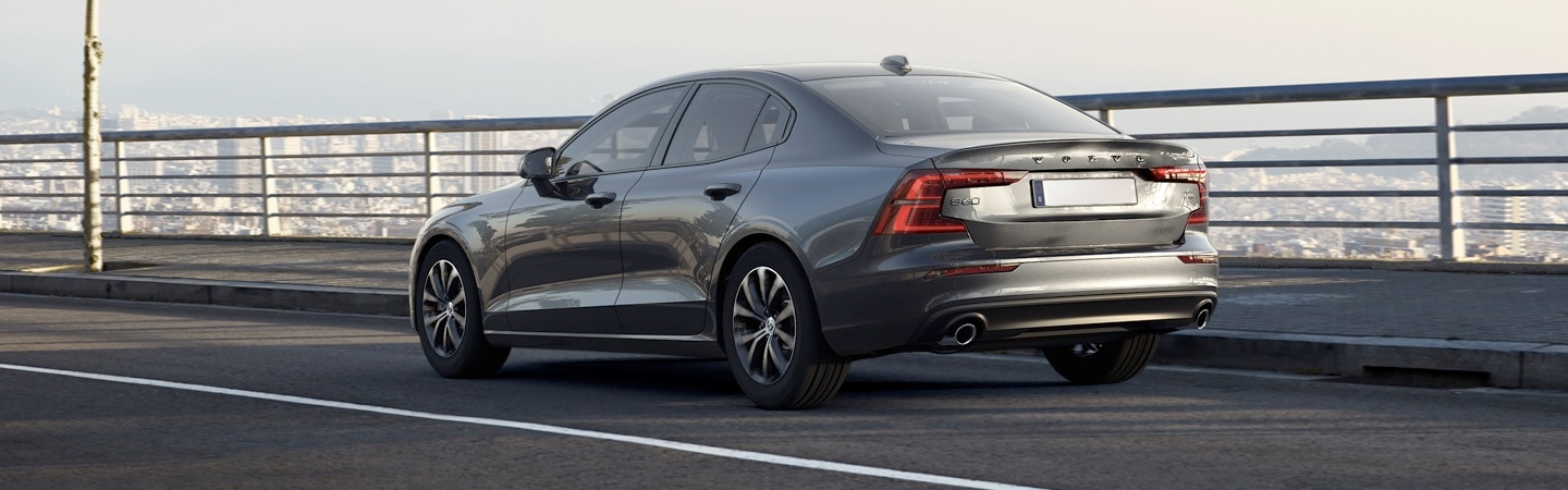 Rear driver view of the 2021 Volvo S60