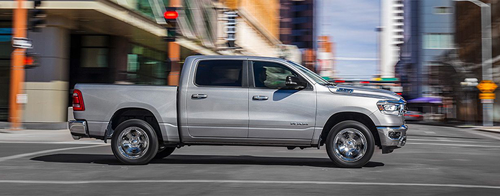 Exterior of the 2019 Ram 1500 - available at our Ram dealership in Lake City.