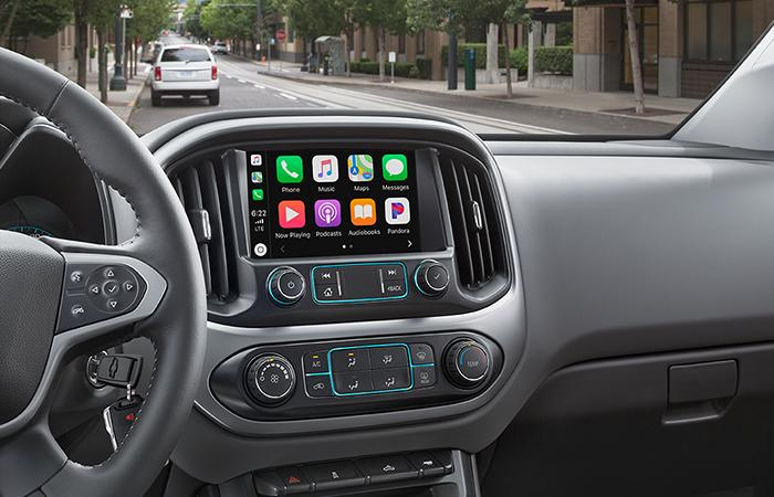Interior of the 2020 Chevy Colorado available at Spitzer Chevy Northfield.