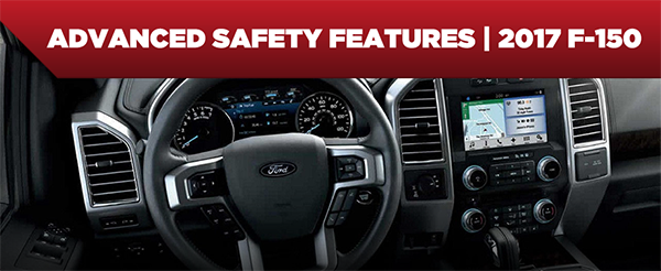 Safety features and interior of the 2017 F-150 - available at Rusty Eck Ford near Andover and Derby