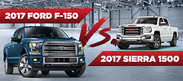 The 2017 Ford F-150 vs. 2017 GMC Sierra 1500 at Rusty Eck Ford in Wichita