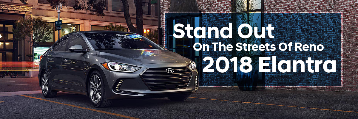 The 2018 Elantra is available at Lithia Hyundai of Reno in Reno, NV
