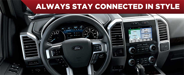 Safety features and interior of the 2017 F-150 - available at Rusty Eck Ford near Andover and Derby, KS
