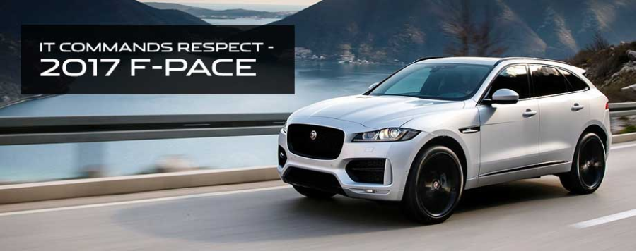 The 2017 F-PACE is available at Crown Jaguar in St. Petersburg