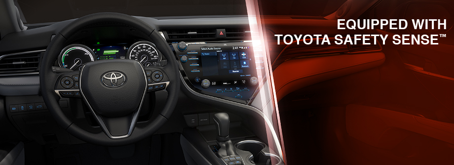 Safety features and interior of the 2018 Camry - available at Rivertown Toyota, your Toyota Dealer in Columbus, GA near LaGrange, GA