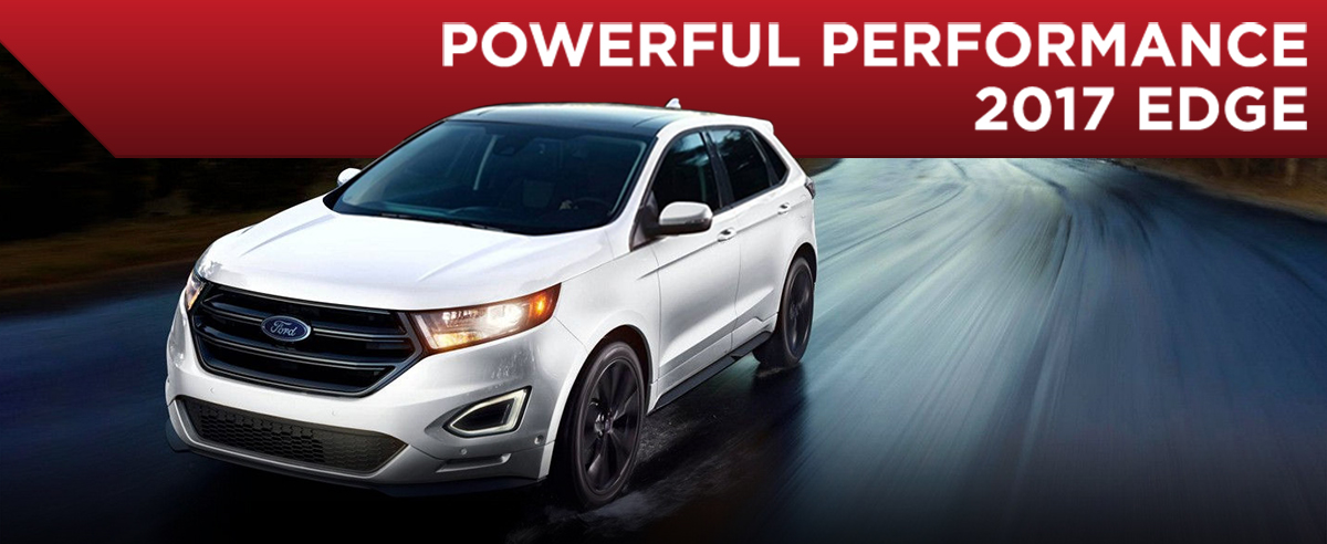 Exterior of the 2017 Ford Edge at Rusty Eck Ford in Wichita near Andover and Derby, KS