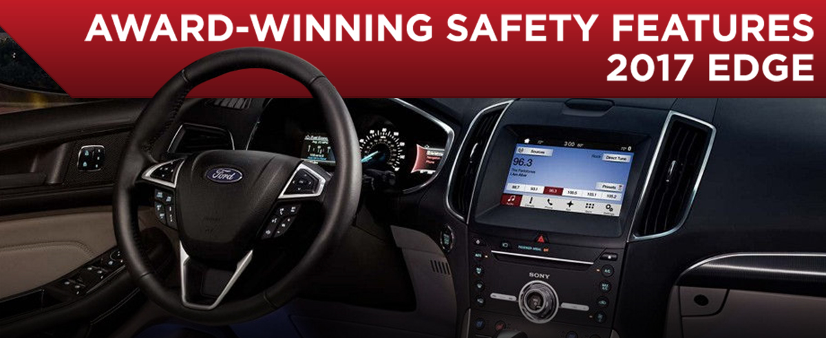 Safety features and interior of the 2017 Edge - available at Rusty Eck Ford in Wichita near Andover and Derby