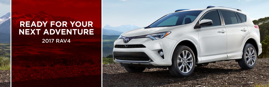 The 2017 RAV4 is available at Rivertown Toyota in Columbus, GA
