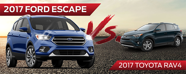 2017 Ford Escape vs. 2017 Toyota RAV4