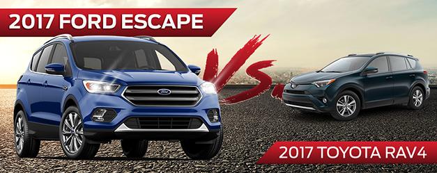 The 2017 Ford Escape vs the 2017 Toyota RAV4 in Wichita near Derby