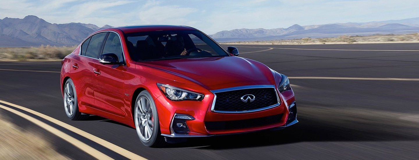 The 2019 INFINITI Q50 available at our INFINITI Dealership in Oklahoma City, OK