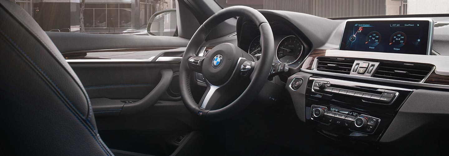 Interior of the 2019 BMW X1 available at our BMW dealer in Columbia, SC