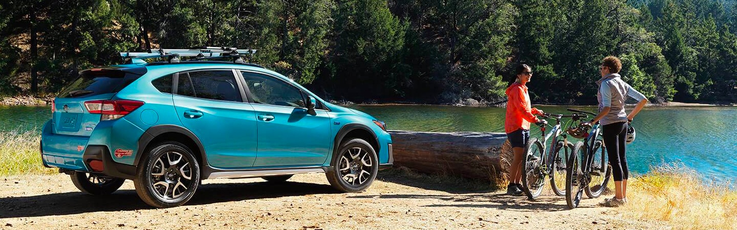 2019 Subaru Crosstrek parked by a lake