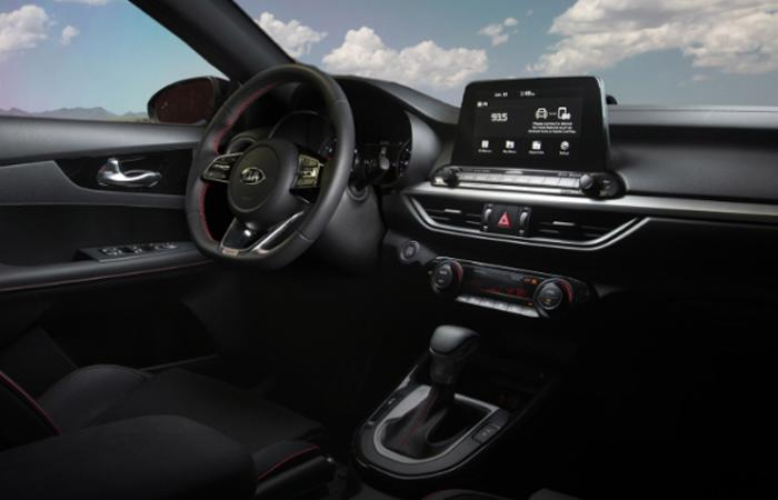 Dashboard of the 2020 Kia Forte