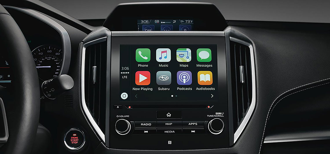 Subaru STARLINK system touchscreen