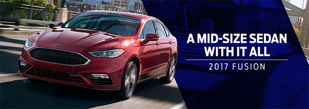 The 2017 Fusion is available at Zeigler Plainwell Ford near Kalamazoo, MI