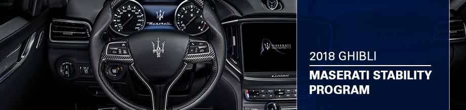 Safety features and interior of the 2018 Ghibli - available at Maserati Van Nuys near Los Angeles and Glendale