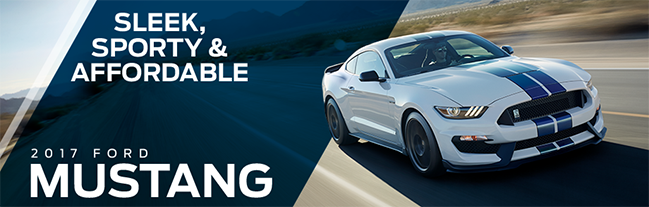 The 2017 Mustang is available at Waldorf Ford near Clinton, MD