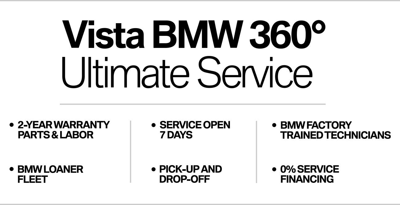 Vista BMW 360 Ultimate Service near Fort Lauderdale, FL