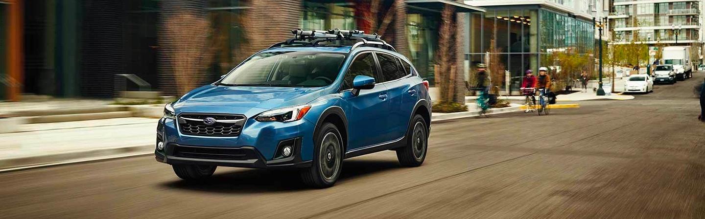 2019 Subaru Crosstrek driving on the city street