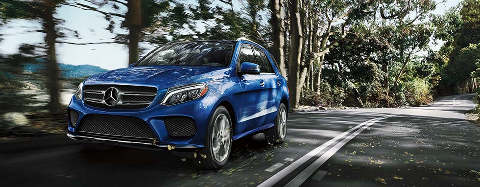 Mercedes-Benz GLE in motion.
