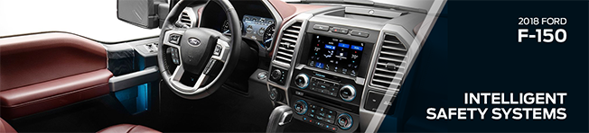 Safety features and interior of the 2018 F-150 - available at Waldorf Ford near Annapolis and Clinton, MD