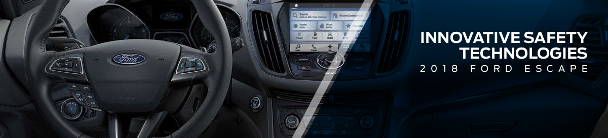 Safety features and interior of the 2018 Escape - available at Waldorf Ford near Alexandria and Annapolis