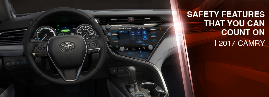 Safety features and interior of the 2018 Camry - available at Lipton Toyota in Ft. Lauderdale near Pompano Beach