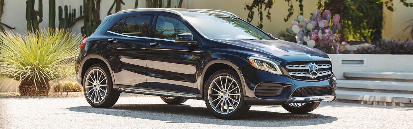 Exterior of the 2019 Mercedes-Benz GLA at Mercedes-Benz of Augusta.