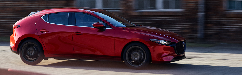 2019 Mazda3 in motion outside of Naples Mazda