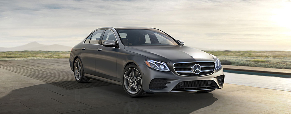Exterior of the 2018 Mercedes-Benz E-Class - available at our Mercedes-Benz dealership near Columbus, OH.