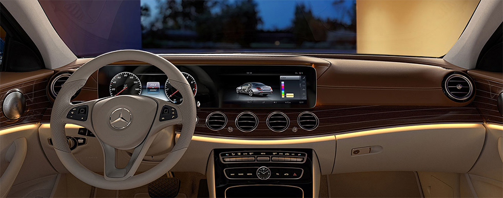 Safety features and interior of the 2018 Mercedes-Benz E-Class - available at our Mercedes-Benz dealership near Columbus, OH.