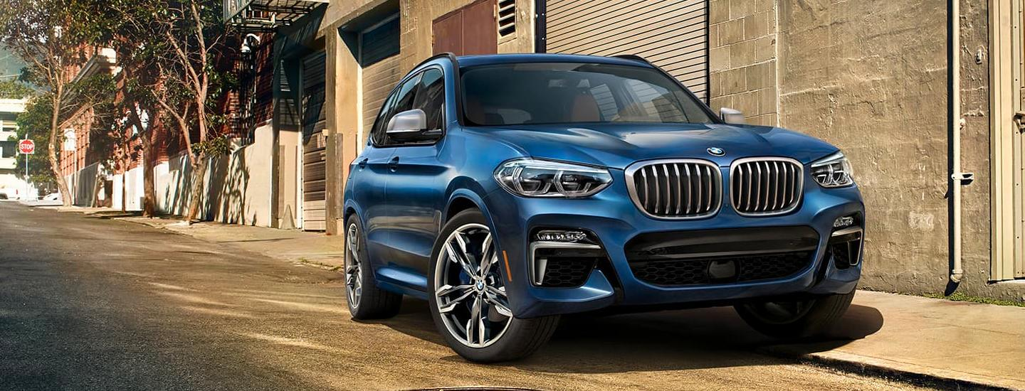 2020 BMW X3 parked on the side of the road